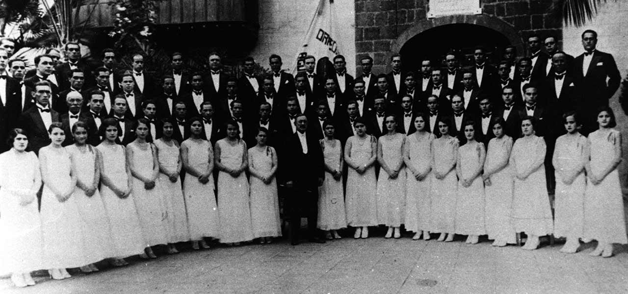 ORFEÓN LA PAZ DE LA LAGUNA. 1930.