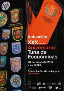 30 Aniversario de la Tuna de Económicas de la Universidad de La Laguna @ Orfeón La Paz   San Cristóbal de La Laguna   Canarias   España