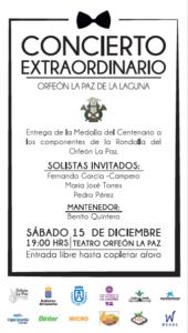 Concierto extraordinario y entrega de Medallas @ Orfeón La Paz | San Cristóbal de La Laguna | Canarias | España