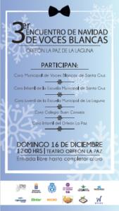 III Encuentro de Navidad de Voces Blancas @ Orfeón La Paz | San Cristóbal de La Laguna | Canarias | España